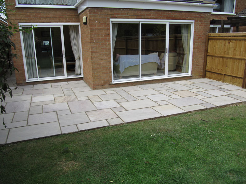 after - New Bradstone Heather Ridge Natural Sandstone Patio