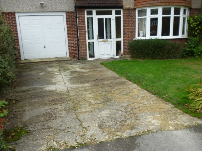 New Shingle Driveway And Extended Parking Area