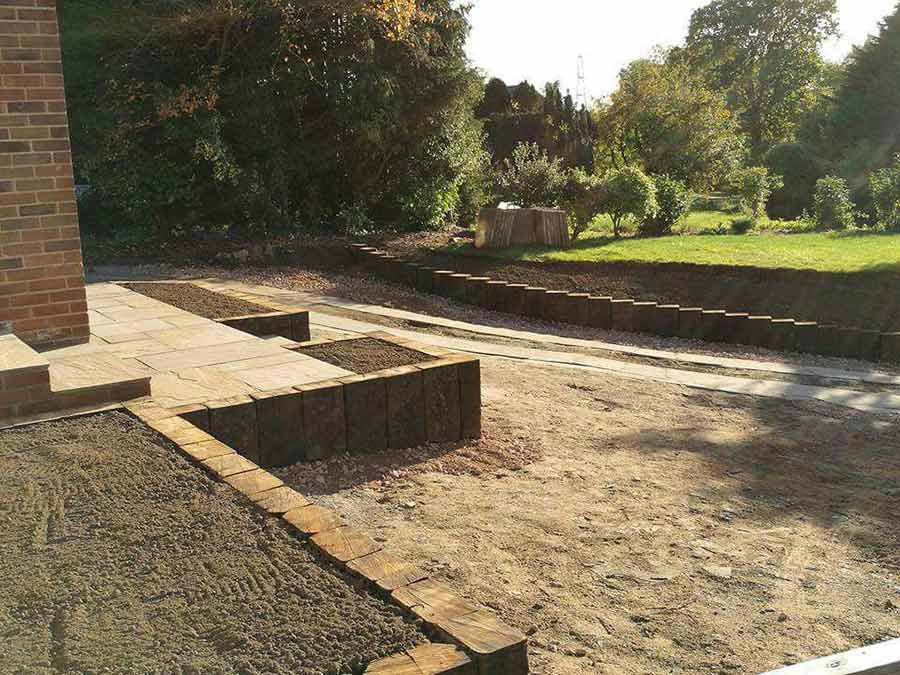 Steep driveway transformed with brett lugano paving for Steep driveway construction