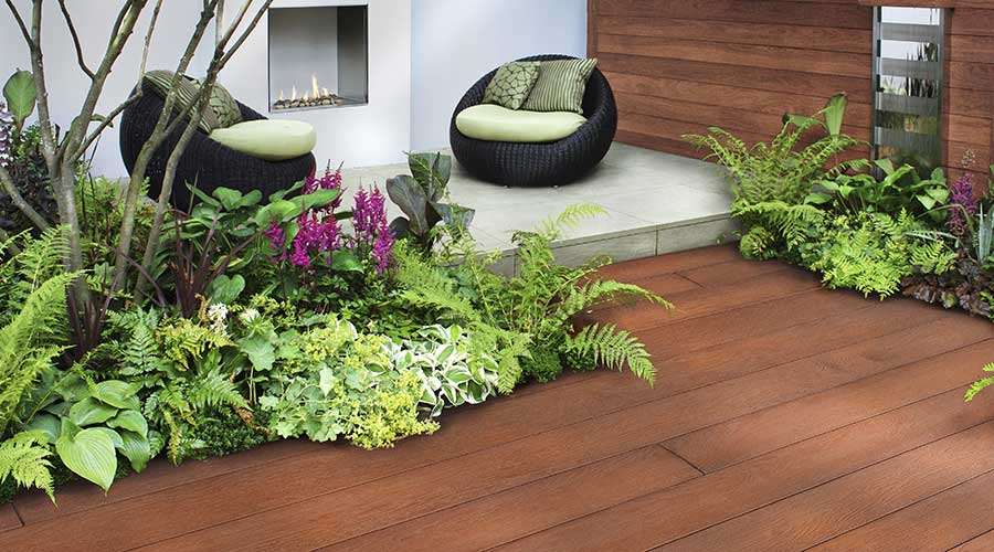 Millboard enhanced grain composite wood decking