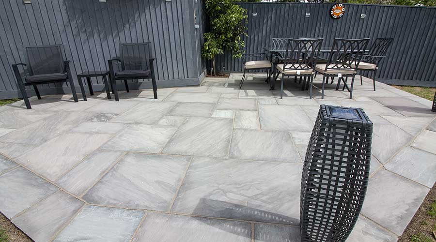 Competition winners' brand new patio